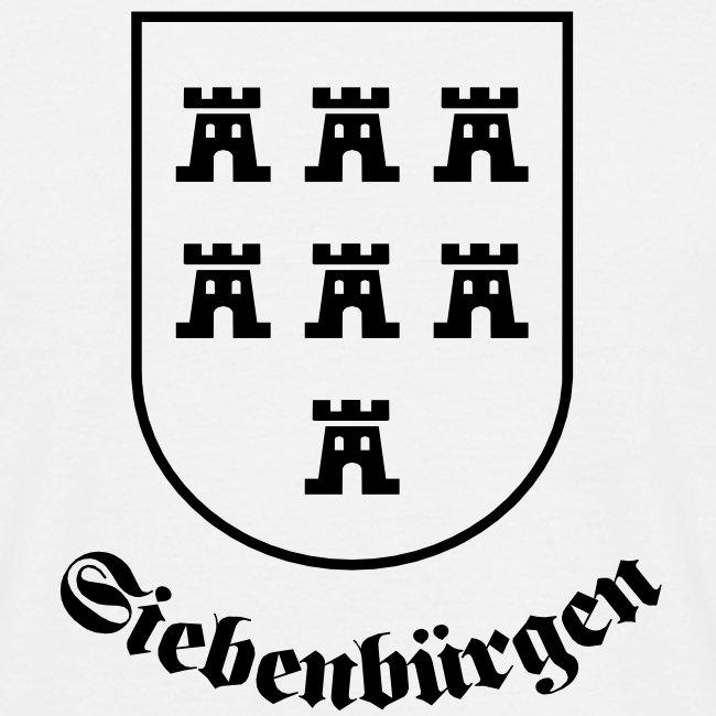 "T-Shirt Sachsenwappen ""Siebenbürgen"" weiss"