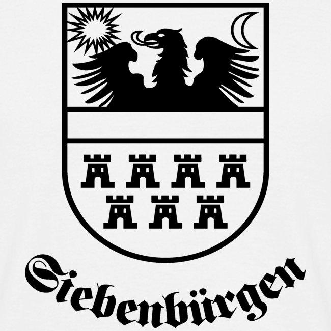 """Weisses T-Shirt """"Siebenbürgen"""" mit dem historischen Landeswappen"""