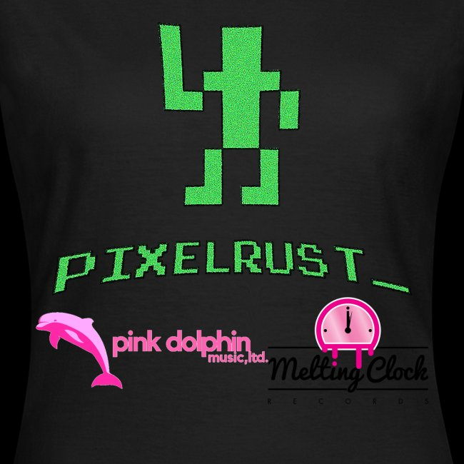 PixelRust black logo Lady's t-shirt