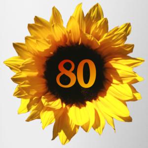 """Geburtstag T-Shirts mit """"Sonnenblume zum 80. Geburtstag"""""""
