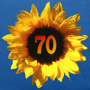 """Geburtstag T-Shirts mit """"Sonnenblume zum 70. Geburtstag"""""""