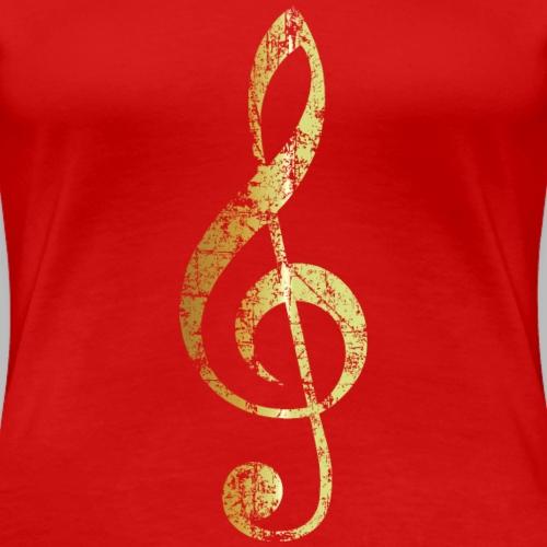 Violinschlüssel (Gold patiniert)
