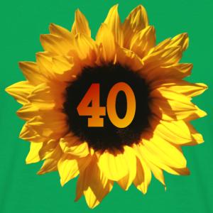 """Geburtstag T-Shirts mit """"Sonnenblume zum 40. Geburtstag"""""""