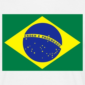 White Brazilian Flag Men's T-Shirts - Men's T-Shirt