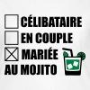 Célibataire,en couple, mariée au mojito ! - T-shirt Femme