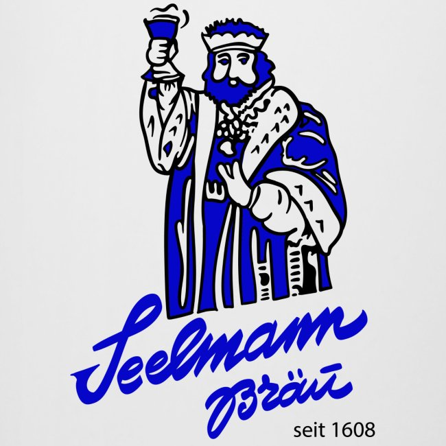 Bierkrug Brauerei Seelmann blau
