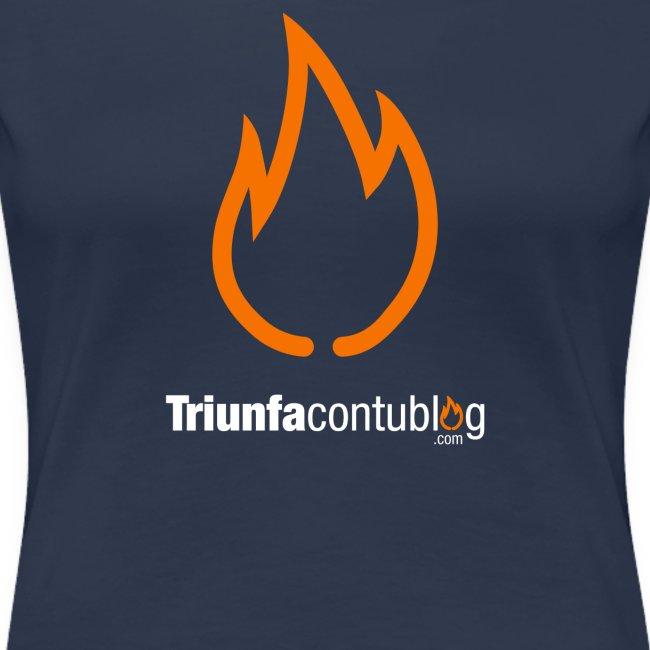 Camiseta mujer Triunfacontublog.com Azul
