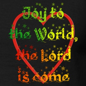 Joy to the World, the Lord is come - 2seitig bedruckt - Männer T-Shirt