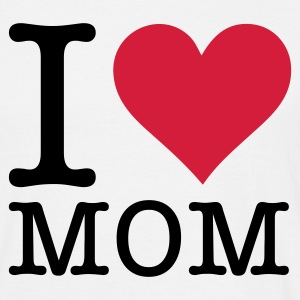 Hvit I Love Mom (2c, NEU) T-skjorter - T-skjorte for menn