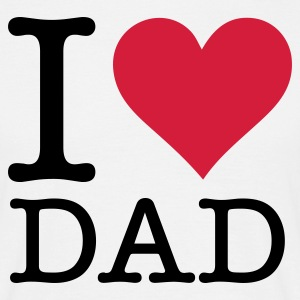 Wit I Love Dad (2c, NEU) T-shirts - Mannen T-shirt