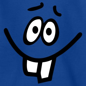 Royalblau Smiley Hasenzahn Kinder T-Shirts - Teenager T-Shirt