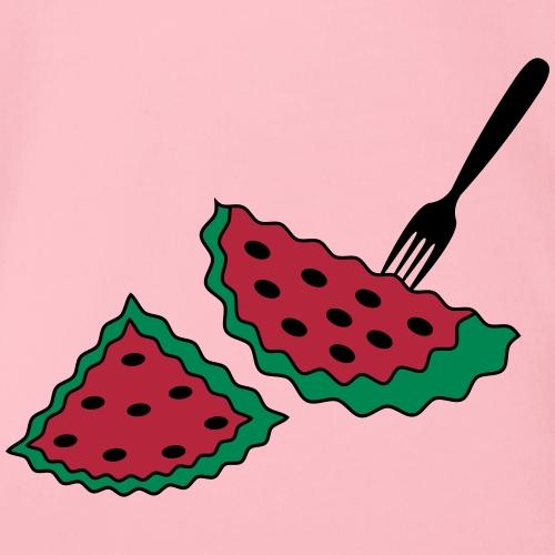 Melone und Gabel