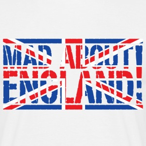 White Mad About England Men's T-Shirts - Men's T-Shirt