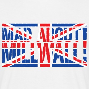 White Mad About Millwall Men's T-Shirts - Men's T-Shirt