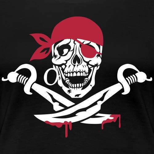 Pirat mit Säbeln Totenkopf Skull Piratenkopf 2c