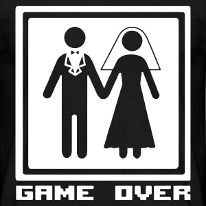 Marriage - Hochzeit - Heirat - Wedding - funny - lustig - fun - joke - Spruch - logo - game over - Männer T-Shirt