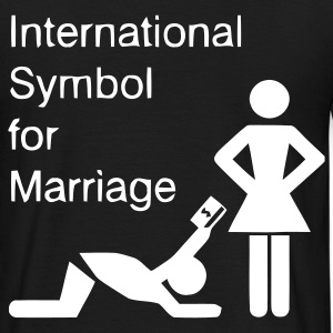 Schwarz International Symbol for Marriage - Hochzeit - Heirat - Wedding - funny - lustig - fun - joke - Spru T-Shirts - Männer T-Shirt