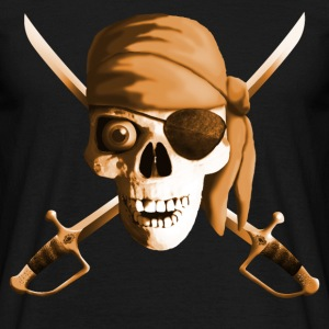 dead_pirate_saber_sepia T-shirts - Herre-T-shirt