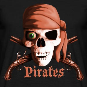 dead_pirate_guns_sepia T-shirts - Herre-T-shirt