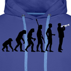 evolution_trompeter_2c Sweat-shirts - Sweat-shirt à capuche Premium pour hommes