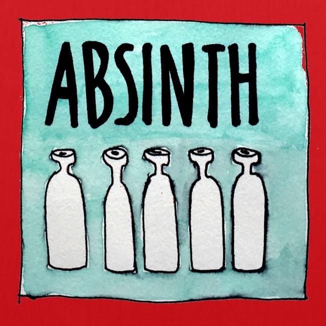 absinth - stoffbeutel