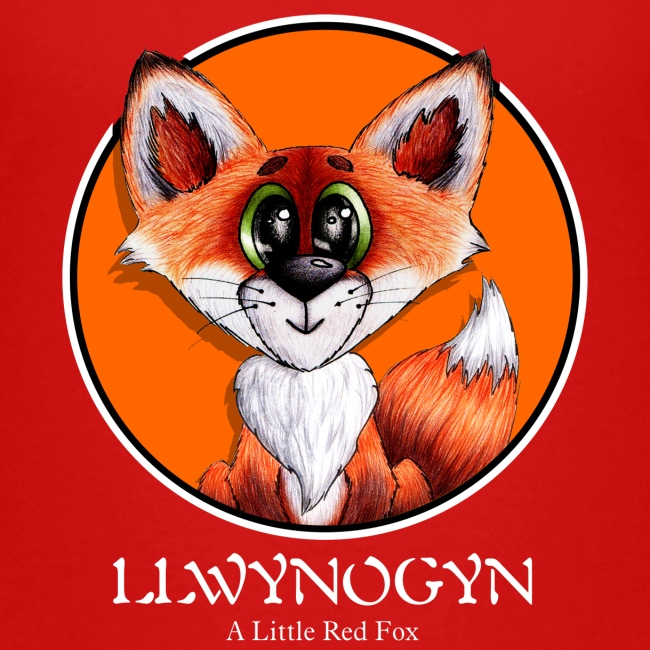 llwynogyn - a little red fox (white)