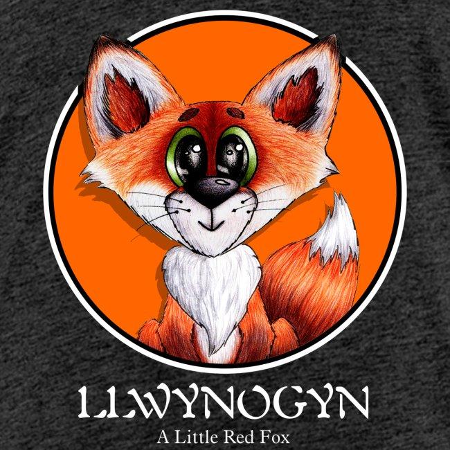 llwynogyn - a little red fox (white)