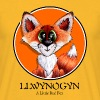 llwynogyn - a little red fox (black) - T-shirt herr