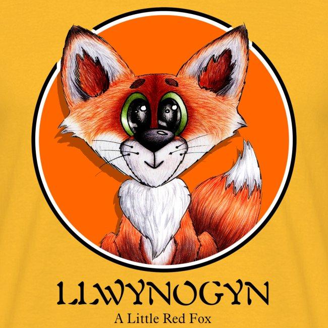 llwynogyn - a little red fox (black)