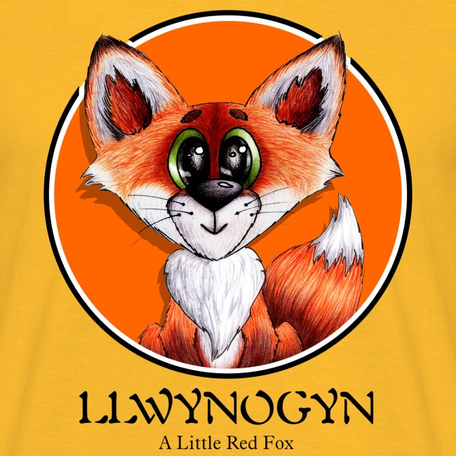llwynogyn - a little red fox (black)