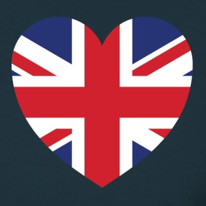 Navy british heart Men's T-Shirts - Men's T-Shirt