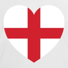 White/red Heart of England Women's T-Shirts