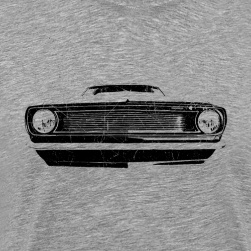 1966 muscle car - black
