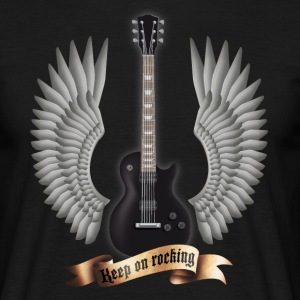 guitars_and_wings_black T-shirts - Mannen T-shirt
