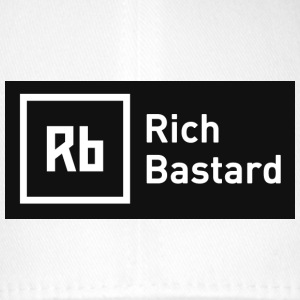 White Rich Bastard Caps & Hats - Flexfit Baseball Cap