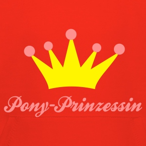 Rot Pony Prinzessin Kinder Pullover - Kinder Premium Hoodie