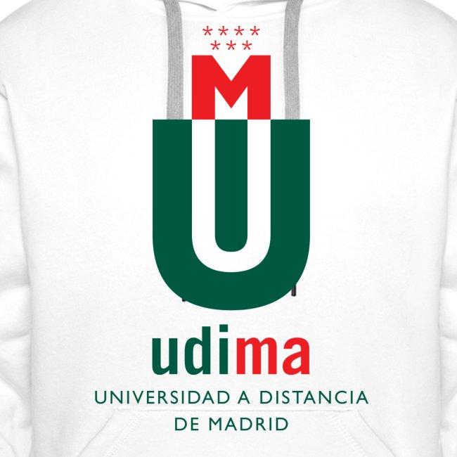 Sudadera capucha hombre logo UDIMA color