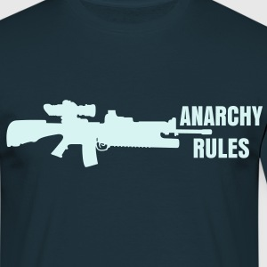 ANARCHY RULES REFLECTIVE TEE - Men's T-Shirt