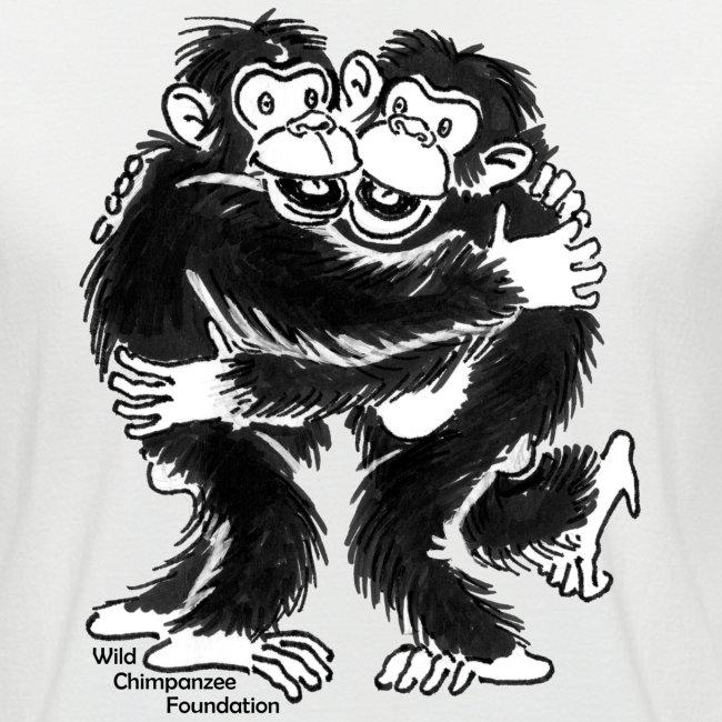 Chimpanzees Men's Short Sleeve Baseball Shirt