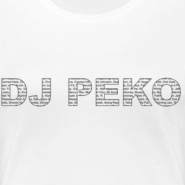 dj peko artists logo white t-shirt