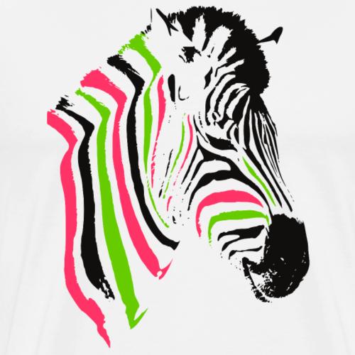 mehrfarbiger Zebrakopf