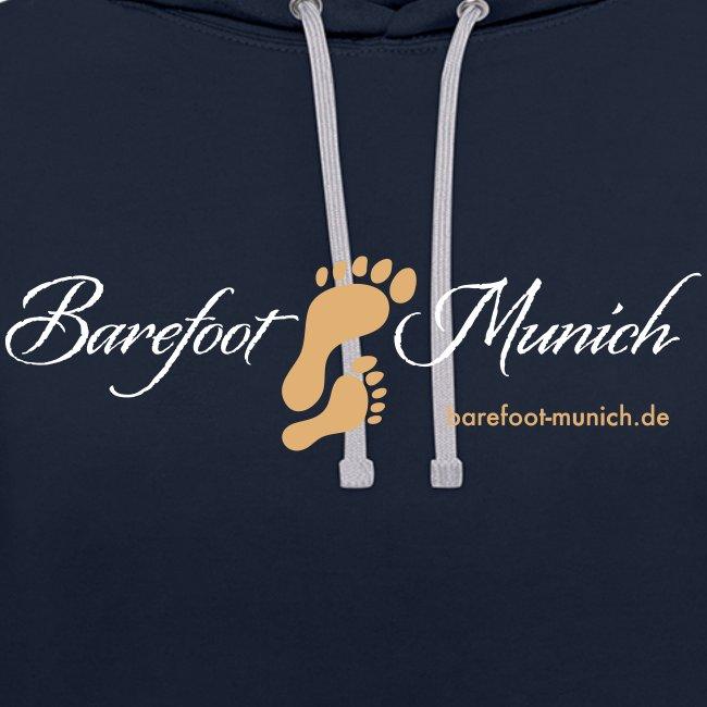 Männer Hoodie Blue Grey - Barefoot Munich