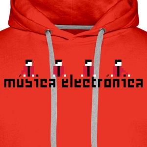 Rot Música Electrónica Pullover - Männer Premium Hoodie