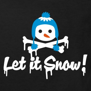 Black Let it snow Kids' Shirts - Kids' Organic T-shirt