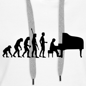 evolution_pianist Gensere - Premium hettegenser for kvinner