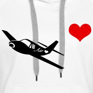 Air love - Sweat-shirt à capuche Premium pour femmes