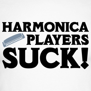 White/black Harmonica Players Suck! Long sleeve shirts - Men's Long Sleeve Baseball T-Shirt