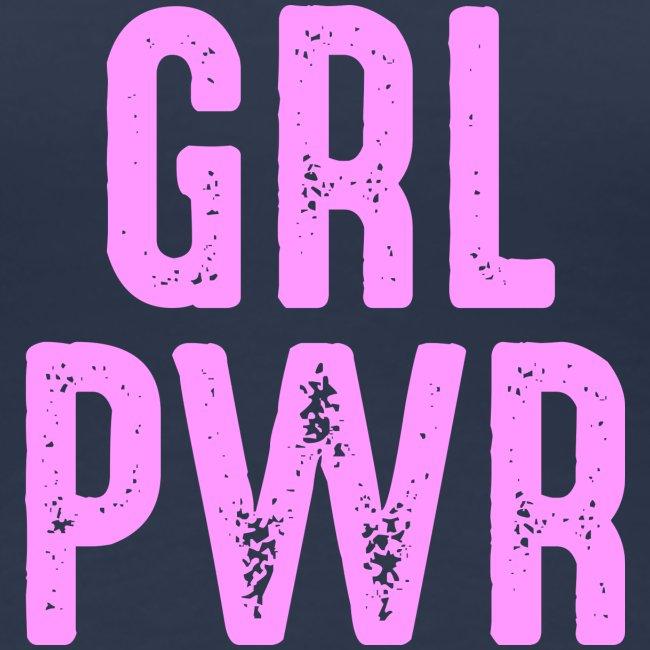 GRL PWR Girl Power coole Mädchen starke Frauen fit