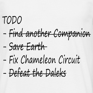 The Doctor's TODO List - Men's T-Shirt