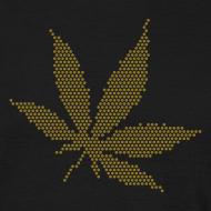 Motiv ~ Goldenes Hanfblatt-Raster Shirt